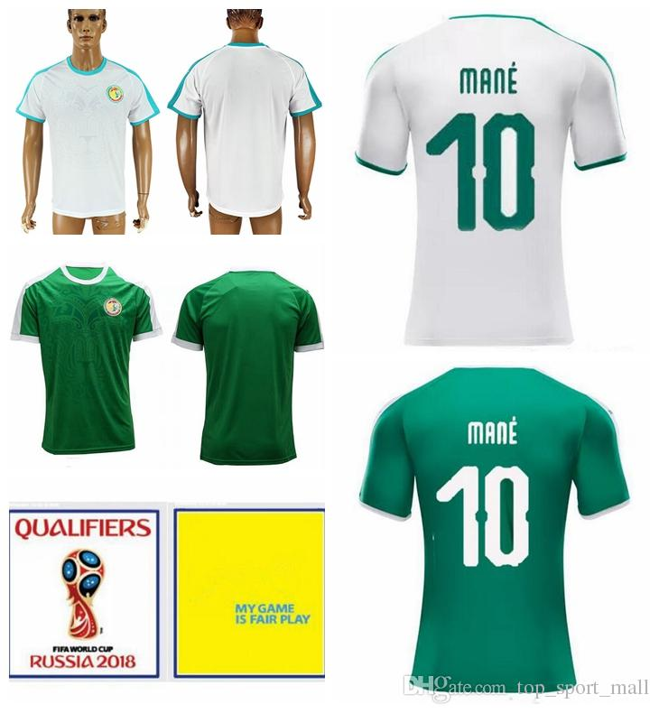 69a37c3c389 Senegal Jersey Soccer 2018 World Cup 10 Sadio Mane 7 Moussa Sow 8 ...