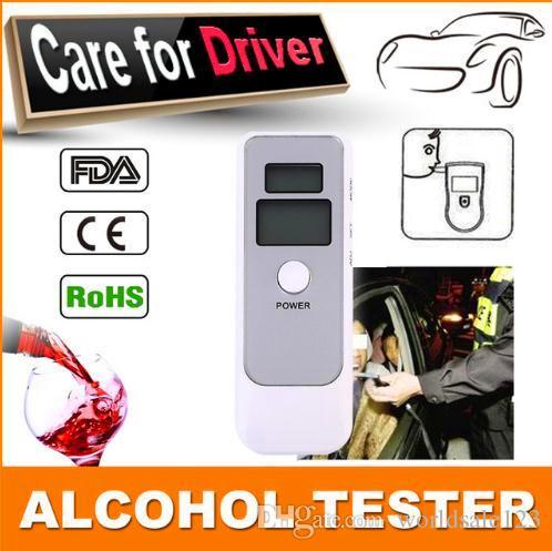 New White Portable Cars Lcd Digital Breath Alcohol Tester Home Auto Breathalyzer Testeryser Vehicle Driver Alcohol Testing Mini Digital Alcohol Breath