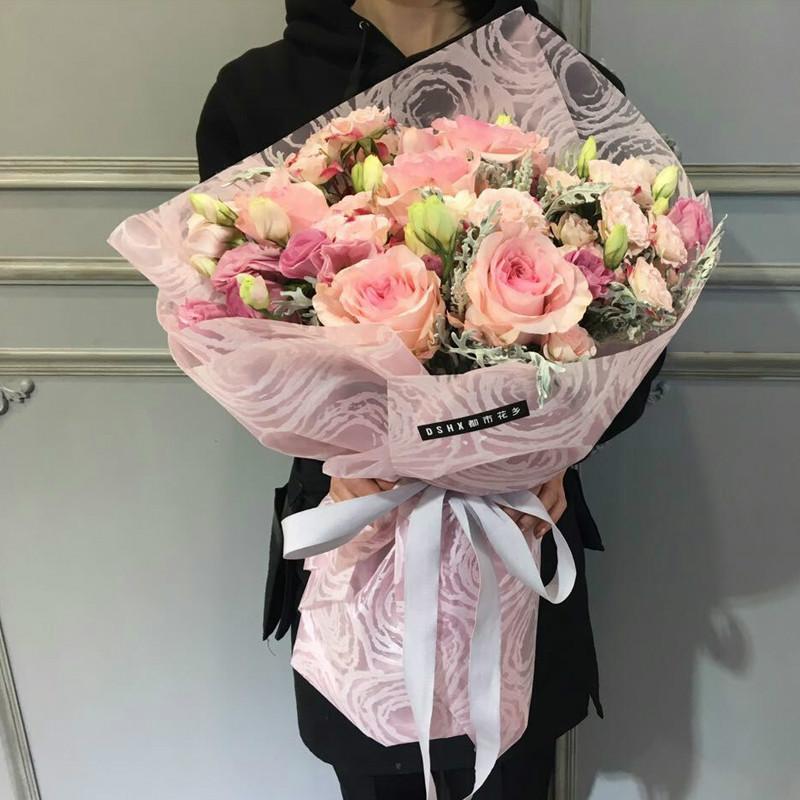 Best Korean Flowers Wrapping Paper Van Gogh Starry Sky Series Flower ...