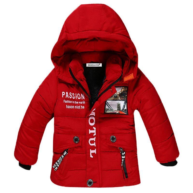 90df27b14 Baby Boys Jackets 2018 Autumn Winter Jacket For Boys Coat Kids Warm ...