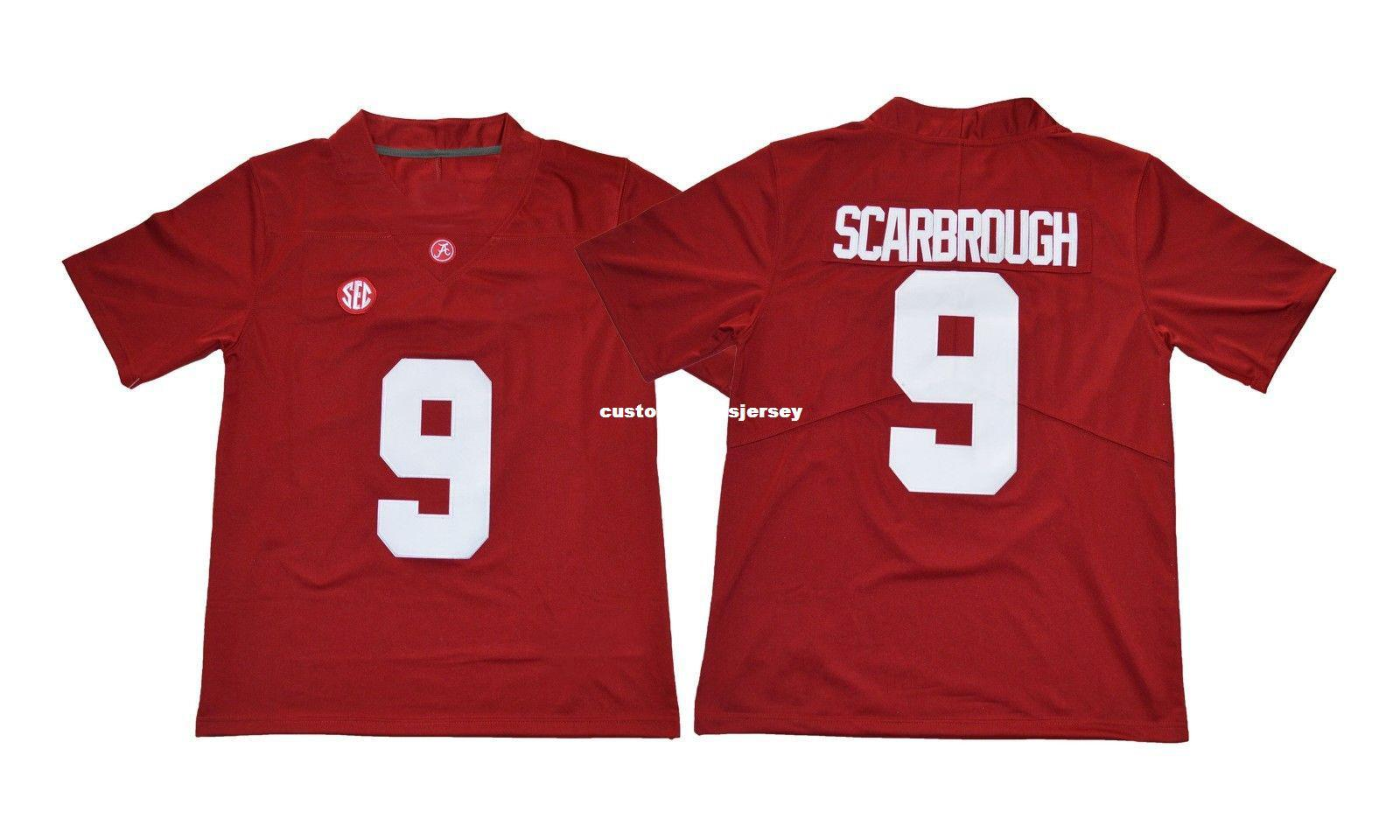 91f1ca404 2019 Cheap Custom Alabama Crimson Tide Bo Scarbrough Red College Football  Jerseys Stitched Customize Any Number Name MEN WOMEN YOUTH XS 5XL From ...