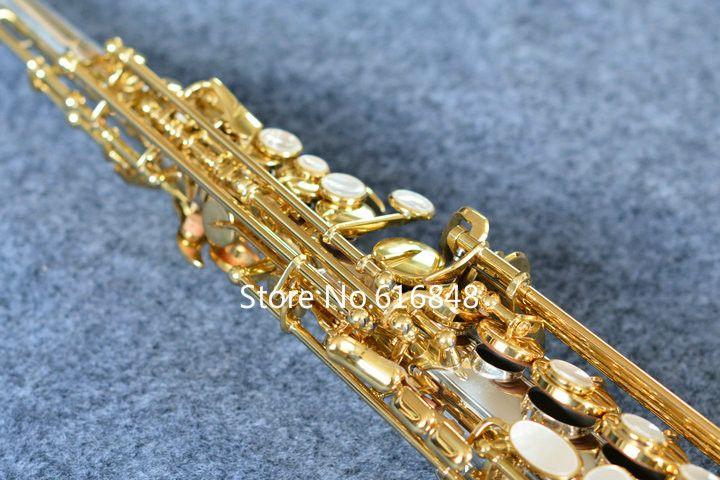 Nova Chegada Escultura Exquisite YANAGISAWA S-9030 Soprano B B Saxofone Tubo De Prata Banhado A Ouro Chave Saxofone De Bronze Profissional