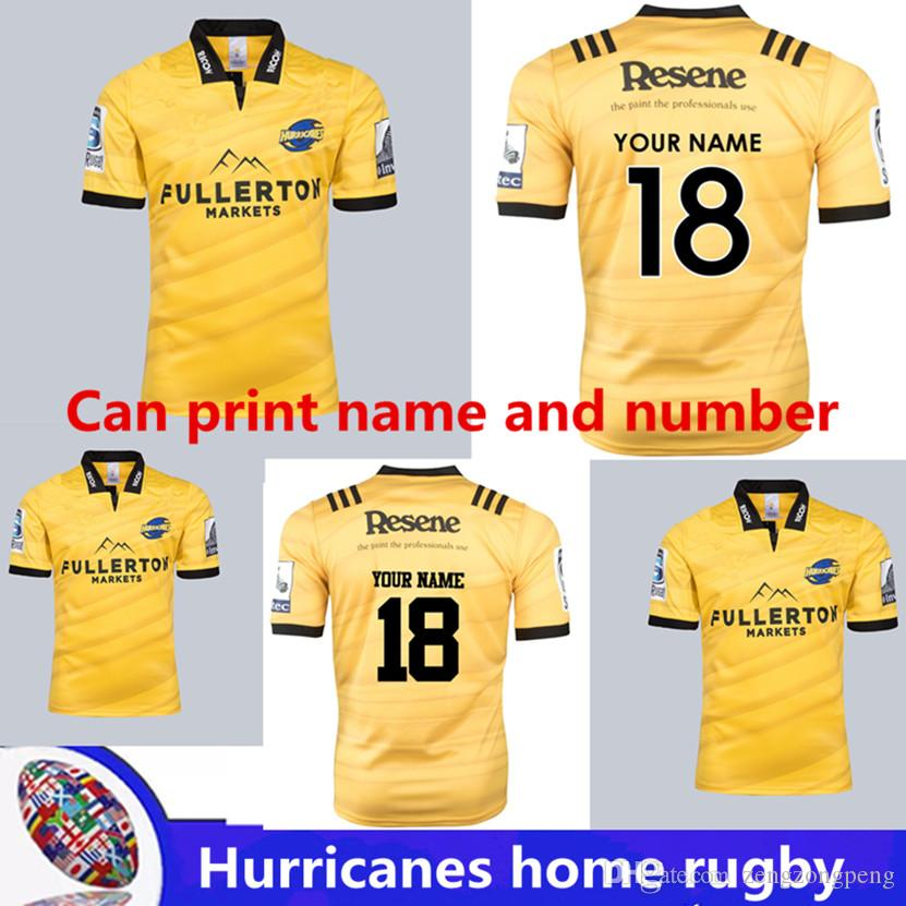 52d0a29c9c7 2019 2018 Hurricanes Super Rugby Home Jersey 2018/2019 Hurricanes Top  Quality Hot Sales Shirts Hurricane Rugby Jersey Size S 3XL 5XL Can Print  From ...