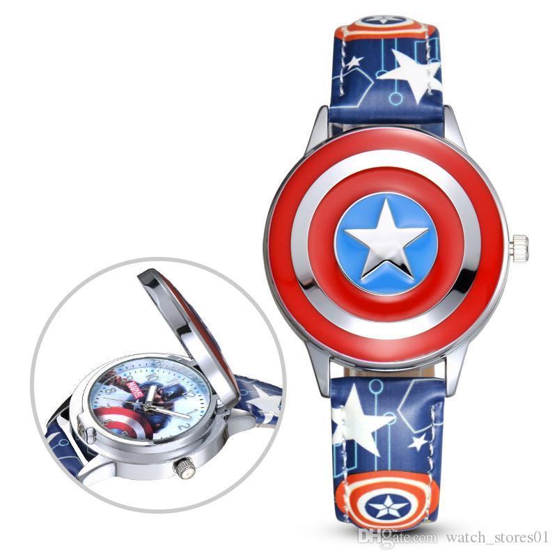 Compre Dibujos Animados Para Niños Capitán América Escudo Reloj ...