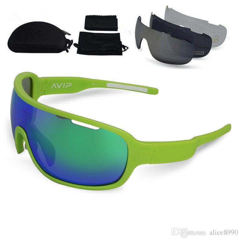 Hot BRAND Do Lâmina Cycing Sunglasses 4 Lente Polarizada Esporte Estrada Mtb Mountain Bike Ciclismo Óculos de Sol Óculos de Ciclismo Eyewear
