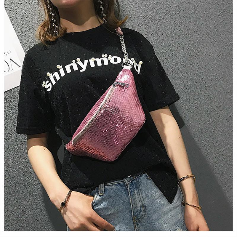 Waist Pack Unisex Sequins Fanny Waist Bag Chest Pack Sparkle Festival Bags  Waist Bags Punk Bag Sport Outdoor Packs Men Women Crossbody Bags Cheap  Designer ... 0158bc65d0d03