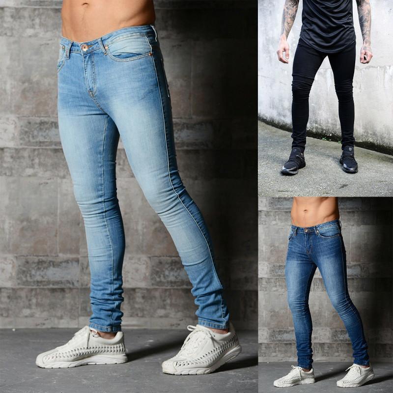 eddc3d4255aa0 Acheter 2018 Jeans Homme New Classique Mode