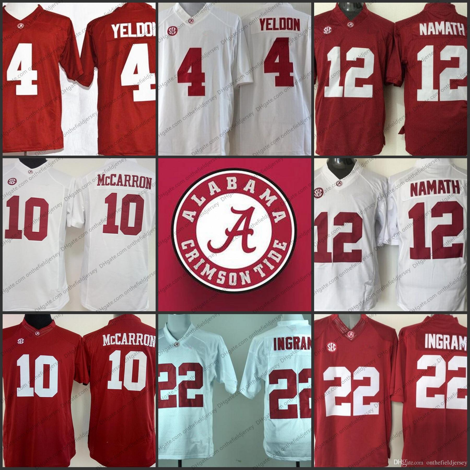 33c2a849c ... football limited jersey  2018 alabama crimson tide ncaa 10 reuben foster  12 ken stabler 22 ryan anderson 4 mark