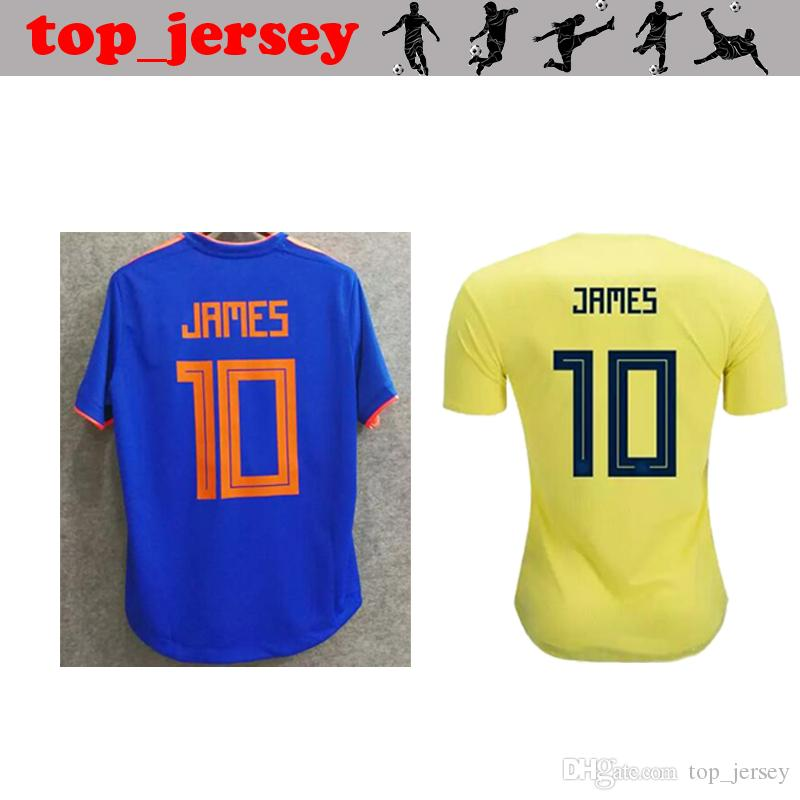 f69f9847102 2018 Colombia World Cup Soccer Jersey Thai Quality JAMES Home Away ...