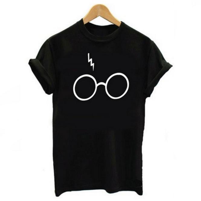 4291acf6 Women's Glasses Print T-shirt Lightning Glasses Shirt Tee High Quality  Screen Print Super Soft Worldwide Tee Shirt