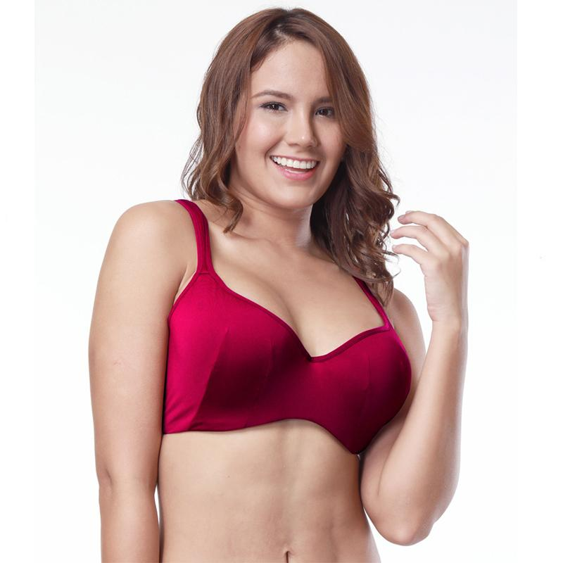 479272812f767 2019 Wholesale Full Coverage Cotton Bra Big Size Brassier Red Bralette Push  Up Bra Lingerie Seamless Comfortable Bras In Large Sizes From Clothesg202