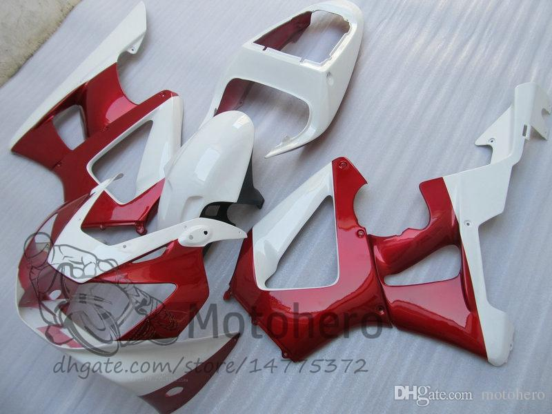Injection White Red fairings For Honda CBR 929 900 RR 929RR 00 01 900 2000 2001 CBR900RR 929 00 01 CBR929 Fairing Kit Bodywork