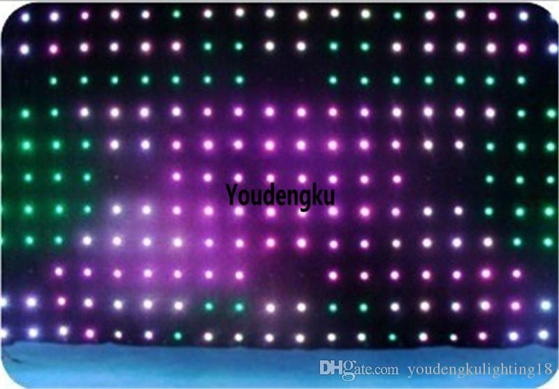 P9 3x4m مرنة LED الستار لينة فيديو المرحلة الزفاف خلفية RGB بقيادة الستار الفيديو