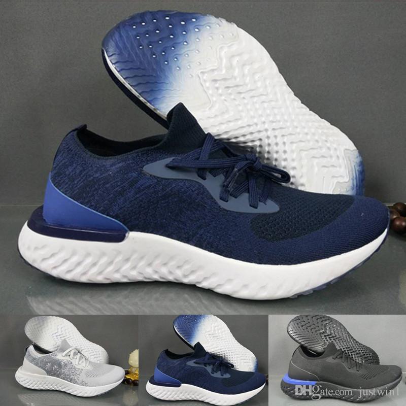 pretty nice f48c7 e5995 Compre With Box Nike epic react flyknit Reaccionan Baratos Nuevos Zapatos  Casuales Rn Flyline 5.0 Hombres Mujeres Zapatillas De Deporte De Alta  Calidad ...