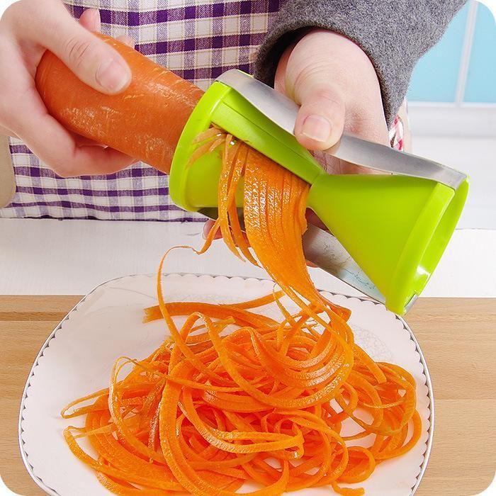 Vegetable Fruit Spiral Shred Process Device Cutter Slicer Peeler Kitchen Cooking Tool Twister Cuisine Julienne Cutter