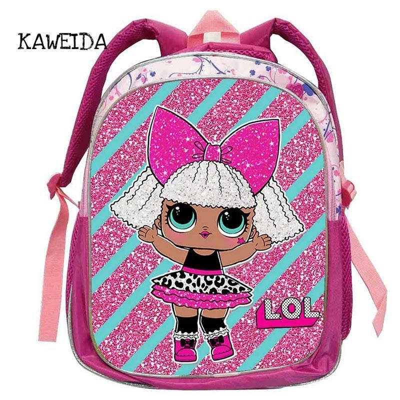 e7148ce94bb0 Kid Backpack LOL School Bag For Kindegarten Girls Cute Small Glam Glitter  LOL Pets Unicorn Dolls Schoolbag Book Bags Mochila 14 Y18110107 Mesh  Backpacks ...