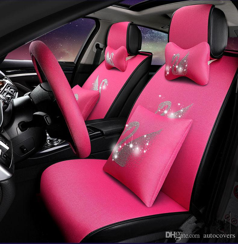 Universal Fit Car Interior Accessory Seat Covers Set For Five Seat