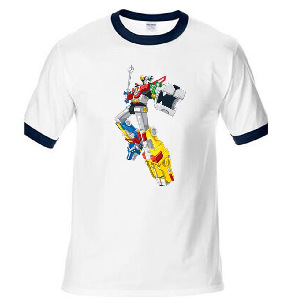 380935e81 Voltron Defender Of The Universe T Shirt Men Cartoon Character T Shirt  Cotton Brand Fashion Summer Ringer Xmas Boy Gift The Who T Shirts Online  Tshirt ...