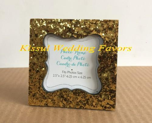 Party Favors Sparkle and Shine Silver Glitter Photo Frames and card holders For Wedding and Party decoration gifts