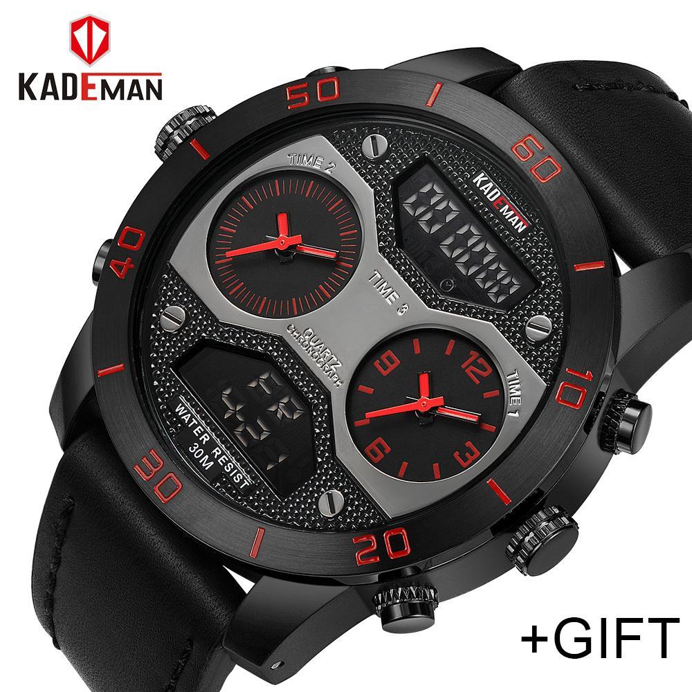 379ced07e46 Men Watches Top Luxury Brand KADEMAN Men Sport Watch Men S Quartz Digital  Analog Male Waterproof Wristwatches Relogio Masculino Digital Wrist Watches  Wrist ...