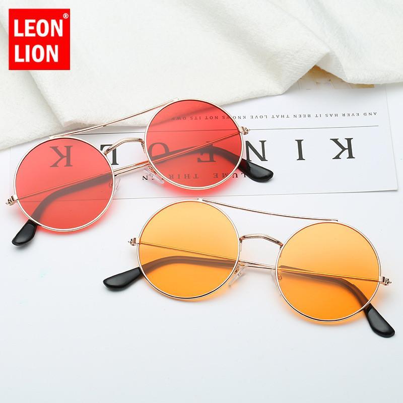 1b5862b43a LeonLion Classic Round Alloy Sunglasses Women Ocean Lens Sunglasses ...