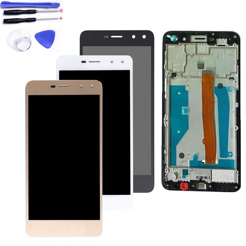 5 0 With Frame LCD For Huawei Y5 2017 MYA-L02 MYA-L03 MYA-L22 MYA-L23 LCD  Display Touch Screen Digitizer Assembly Tested