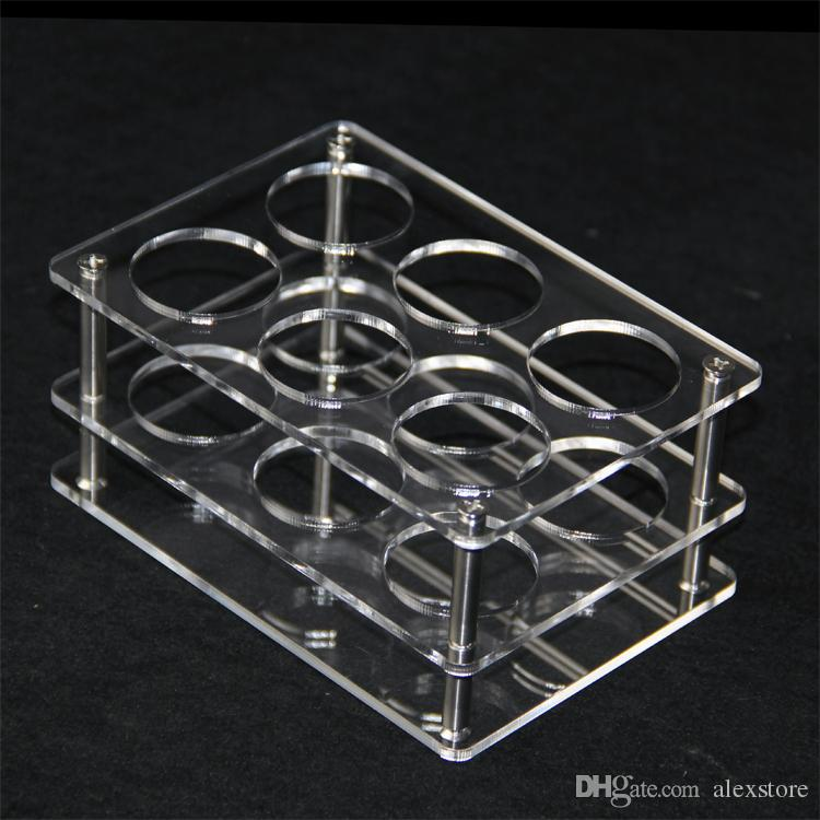 Acrylic display clear stand shelf holder base vape rack box show case for 60ml bottles eliquid eJuice e juice bottle DHLvape