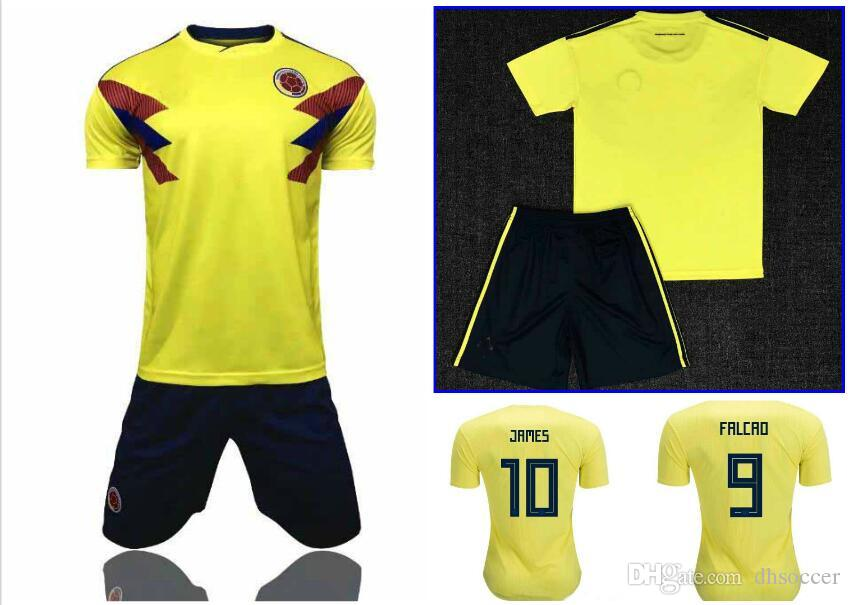 2019 2018 World Cup Colombia Adult Soccer Jersey Kit Colombia Home Yellow  Soccer Shirt 2018 World Cup  10 JAMES Thai Football Uniform From Dhsoccer 672dc011a