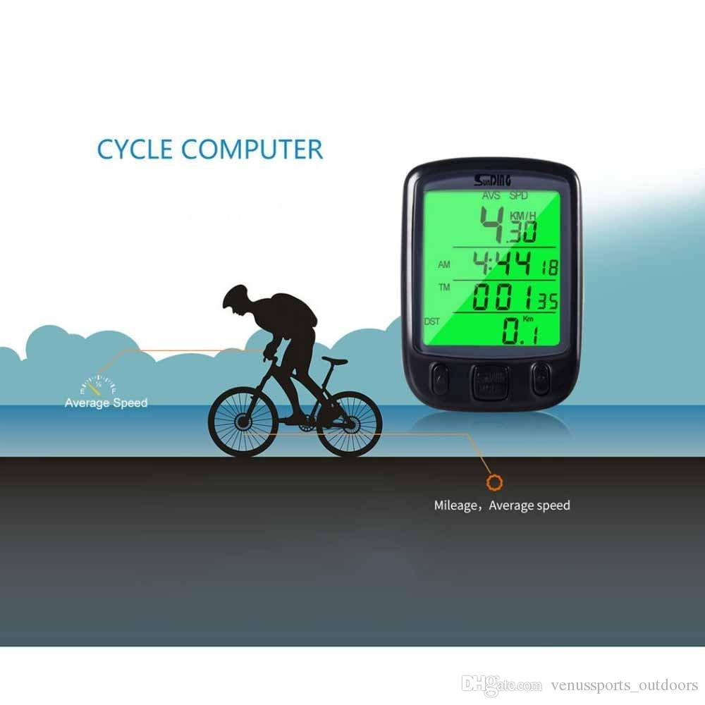 Bicycle Computer Leisure Multifunction Waterproof Cycling Odometer Speedometer With LCD Display Bike Computers wheel odometer speedometer