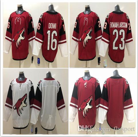 682800877 ... 2018 wholesale phoenix arizona coyotes ice stitched mens 16 max domi  jersey 23 oliver ekman larsson