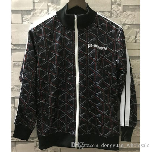 d6017263d44 18ss Autumn Winter Palm Angels Jacket High Quality Striped Purple Orange Palm  Angels Jackets Sportswear Joggers Palm Angels Jacket Canada 2019 From ...