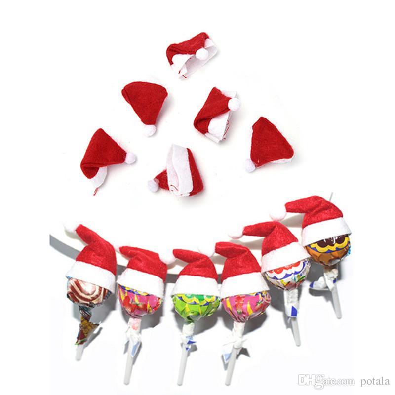 Compre Nuevo AÑO Lindo Mini Sombrero De Papá Noel Rojo Candy Para Candy  Lollipop Decor DIY Navidad Regalo De Navidad Lollipop Top Topper Cubierta  Festival ... 8b13d12840b