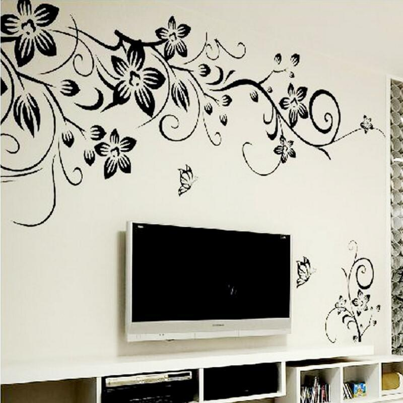 diy wall art decal decoration fashion romantic flower wall sticker
