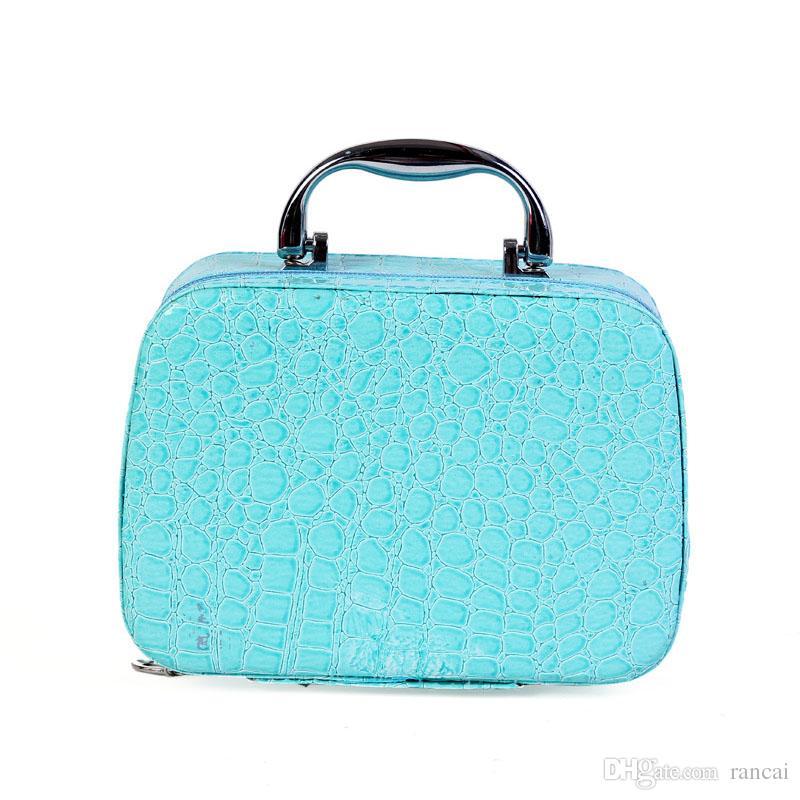 PU 가죽 메이크업 케이스 브러쉬 홀더 보관 가방 상자 아티스트 가방 지퍼 화장품 케이스 주최자 미용 도구에 대한