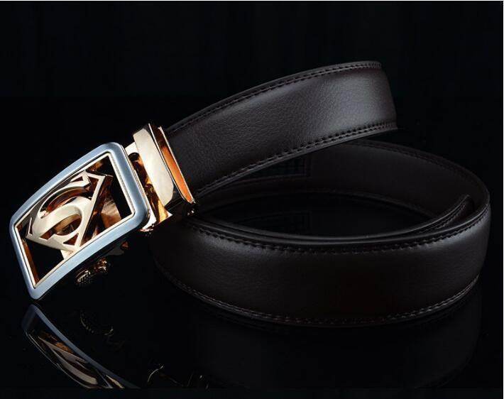 25d397dd1f5 New Designer Belts Superman Leather Belt Men Ceinture Homme Smooth Buckle  Belts Men High Quality Smooth Buckle Mens Riem S Buckle Belts Conveyor  Belts Blue ...