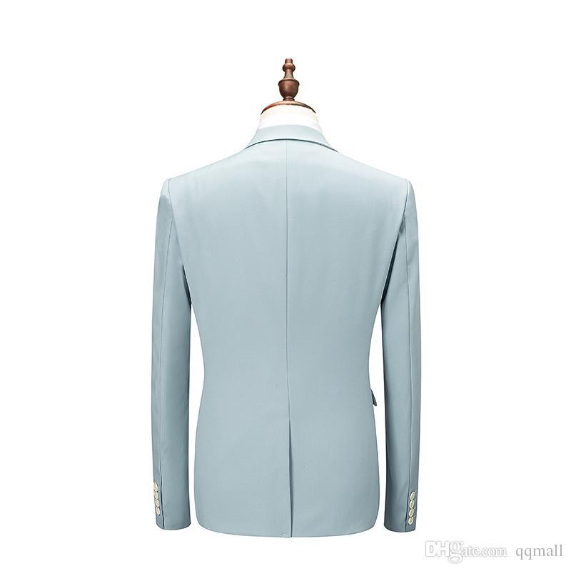 aa099b4b17f Fashion Men s Suits Business Wedding Male Three-piece Sets Large ...