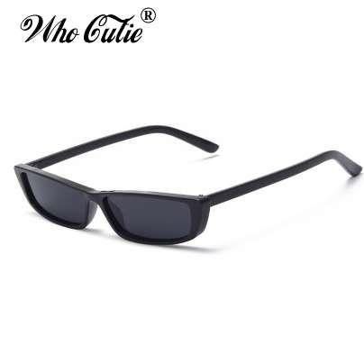 2712e2f6b Compre OMS CUTIE 90 S Óculos De Sol Das Mulheres Do Vintage Moda Pequeno  Retangular Quadro Preto Vermelho Olho De Gato Óculos De Sol Retro Skinny  Shades ...