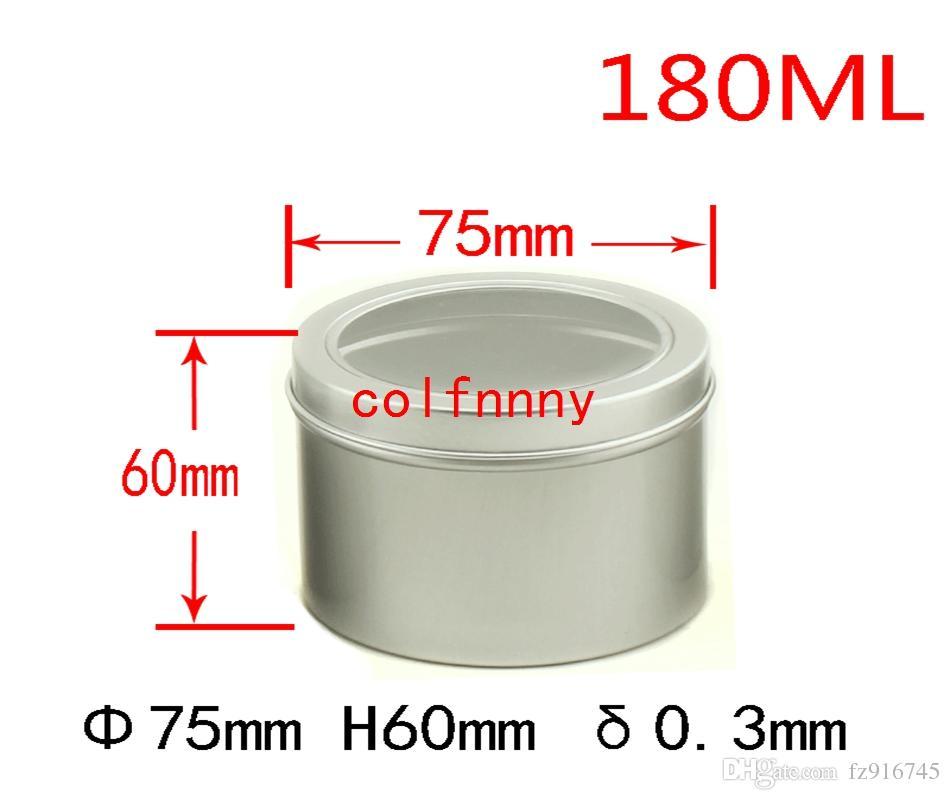 100 قطعة / الوحدة 25 ملليلتر 60 ملليلتر 100 ملليلتر الألومنيوم التجميل كريم جرة نافذة كاب ، 150 ملليلتر الجرار المعدنية ، 180 ملليلتر مربع الألومنيوم ، التعبئة علب الحاويات