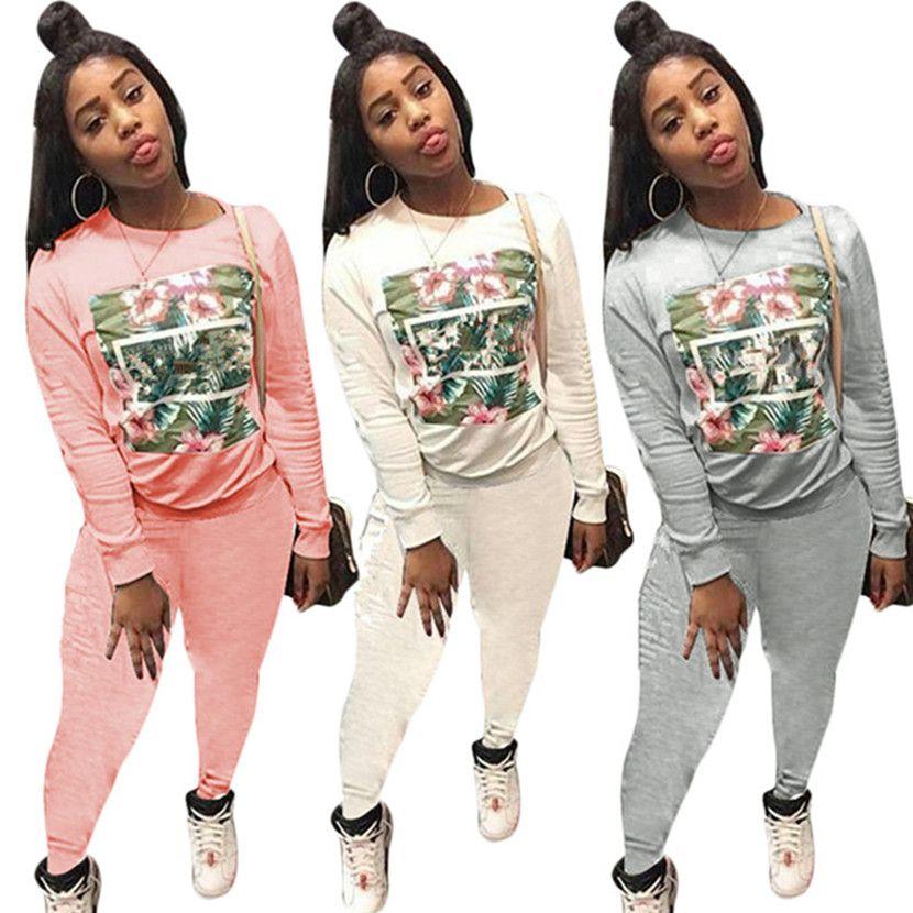 Marke Designer Frauen Winter Trainingsanzug Hoodie 2 Stück Set Outfits Strumpfhosen Leggings Sweatsuit Pullover Sweatshirt Hosen Sportanzug billig 971