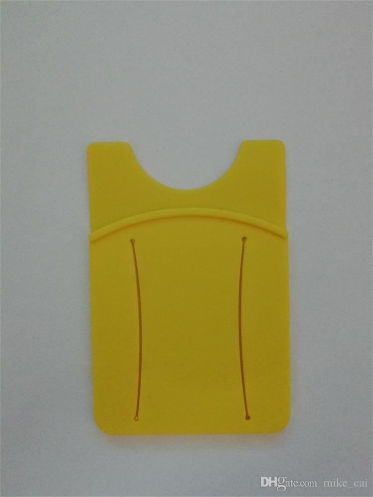 New Design OEM LOGO Eco-friendly Factory Supply card holder cell phone sticker card holder silicone mobile phone id card holder silicon