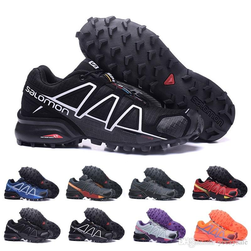 grand choix de c6280 16007 2018 Salomon Speedcross 4 Trail Runner Best Quality Mens Womens Sports  Shoes Fashion Sneaker Outdoor Shoes Free Shipping