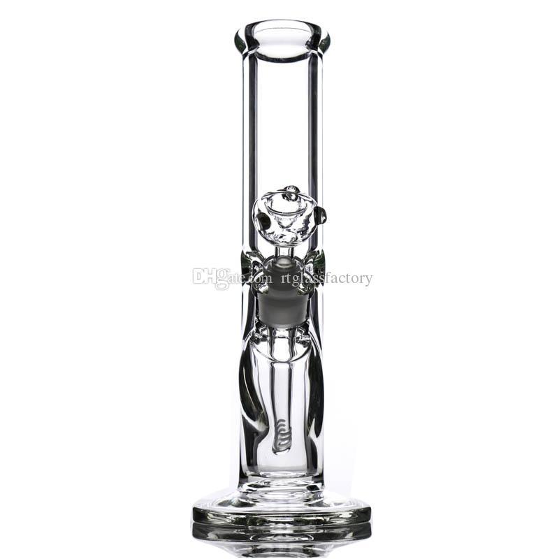 Verre 30CM 9 mm Bongs Rig épais droites huile barboteur verre Design classique Pipes eau super lourds avec accessoires fumeurs