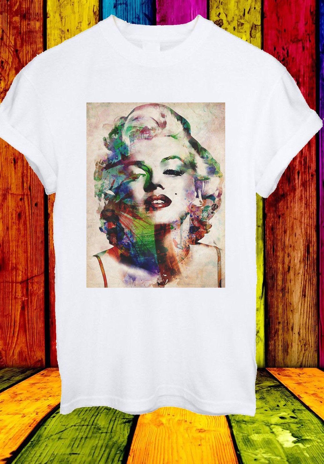 Marilyn Monroe American Actress Blonde Famous Men Women Unisex T Shirt 658  Cool Casual Pride T Shirt Men Unisex New Fashion T Shirt Every Day Funny  Cool ... e20f9d93f0