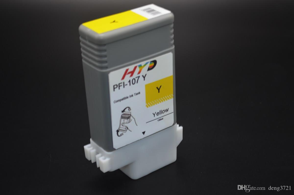 6 pz / lotto compatilbe PFI-107 cartuccia d'inchiostro serbatoio d'inchiostro canon IPF780 IPF688 IPF685 stampante IPF785