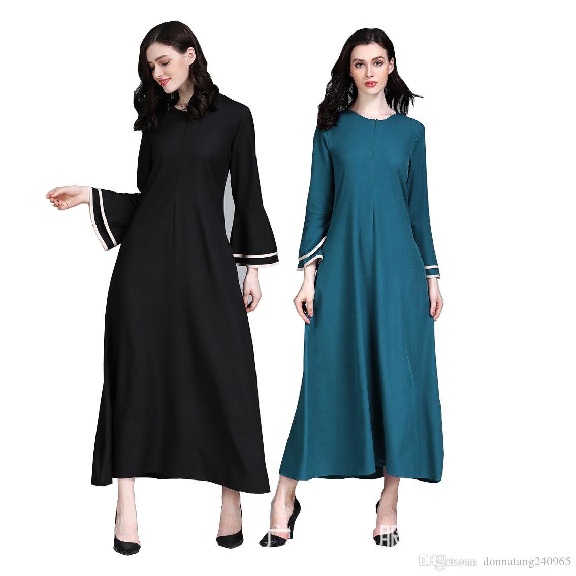 d869d258f7e86 Muslim Women Maxi Dress Islamic Abaya Butterfly Layer Long Sleeve Jilbab  Caftan Arab Robes Malaysia Garment Prayer Ramadan Clothes Shop Cocktail  Dresses ...