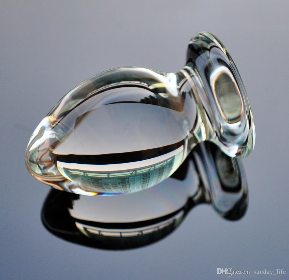 50mm Grand cristal plug plug vagin boule grand verre de pyrex anal gode perle faux pénis adulte se masturbent sex toy pour femmes hommes gay