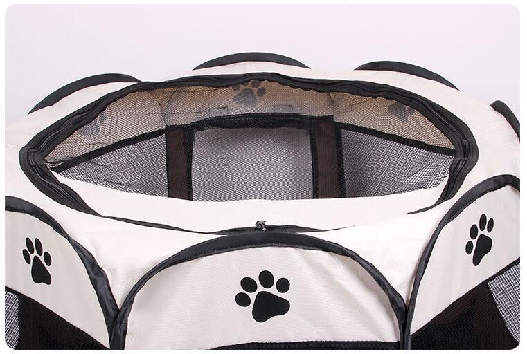 New Arrival Portable Folding Dog House Pet tent Cage Dog Cat Tent Puppy Kennel Octagonal Fence outdoor Pet supplies size:73*73*43cm