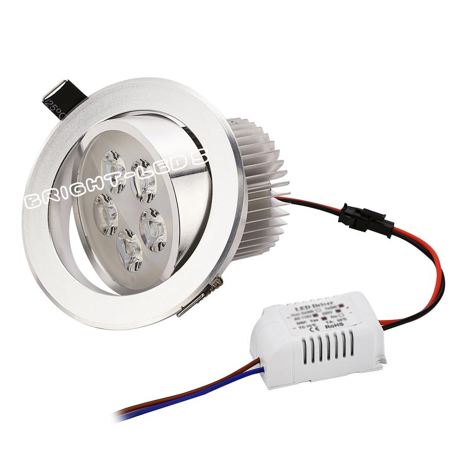 best price CREE 3W 4W 5W 7W led downlights Recessed AC85-265V silver shell cold white warm white