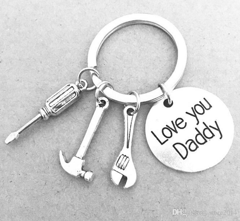 Wenn Vater es nicht reparieren kann, kann niemand / Liebe dich Vati-Schraubenzieher-Schlüssel-Hammer-Axt-Säge-Schlüsselring-Werkzeug-Charme Keychain Geschenk für den Vati-Vatertag