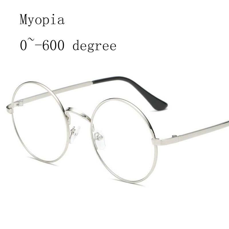 abf2e42597 Alloy Round Frame Women Myopia Glasses Men Metal Frames Myopia ...
